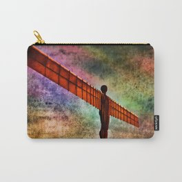 Grunged Angel Of The North  Carry-All Pouch