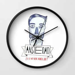Ansiedad (Anxiety) Wall Clock