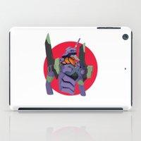 evangelion iPad Cases featuring Evangelion | Eva-01 by incognek0