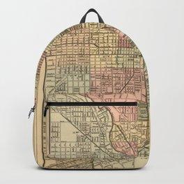 Vintage Map Of Chicago Backpack