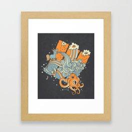 El viaje de Carlitos Framed Art Print