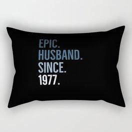 Epic Husband Since 1977 Rectangular Pillow