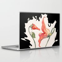 floyd Laptop & iPad Skins featuring Pink Floyd 's Flower  by Blaz Rojs