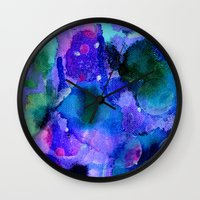 milky way Wall Clocks featuring Milky way way way by Perk & Powe Designs
