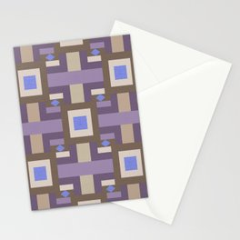 WINTER GEOMETRY PATTERN Stationery Cards