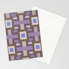 WINTER GEOMETRY PATTERN Stationery Cards