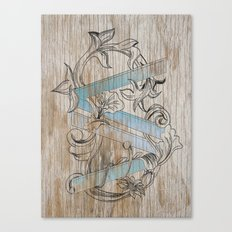 VV wood style Canvas Print