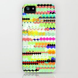 colorful abstract design iPhone Case