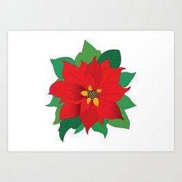 Poinsettia flower Art Print