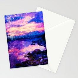 Abstract Sunburst Beach Stationery Cards