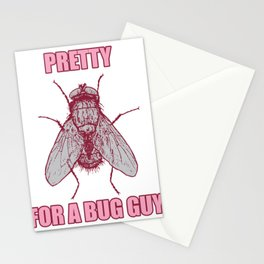 Cute Fly For A Bug White Guy Stationery Cards