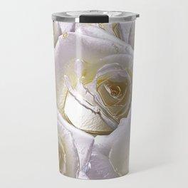 3d rendering White Rose Travel Mug