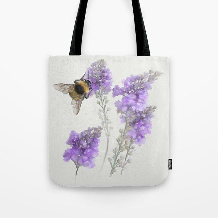 Watercolor Bumble Bee Tote Bag