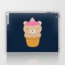 Kawaii Bear Ice Cream Cone Laptop & iPad Skin