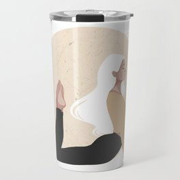Yoga girl yellow I Travel Mug