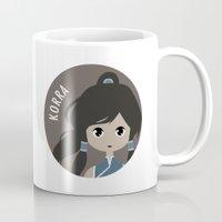 korra Mugs featuring Korra by gaps81