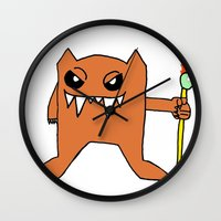 devil Wall Clocks featuring Devil by Fawful