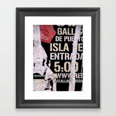 Isla Framed Art Print