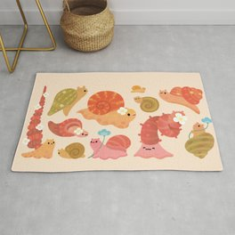Snail and small flowers Rug