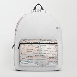 Detailed map of Florida Backpack