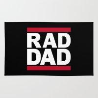 dad Area & Throw Rugs featuring RAD DAD by CreativeAngel