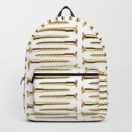 Golden Screws Pattern Poster Backpack