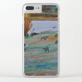 Rest in Flight Clear iPhone Case