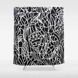 Trust in life - Black and White Art Shower Curtain