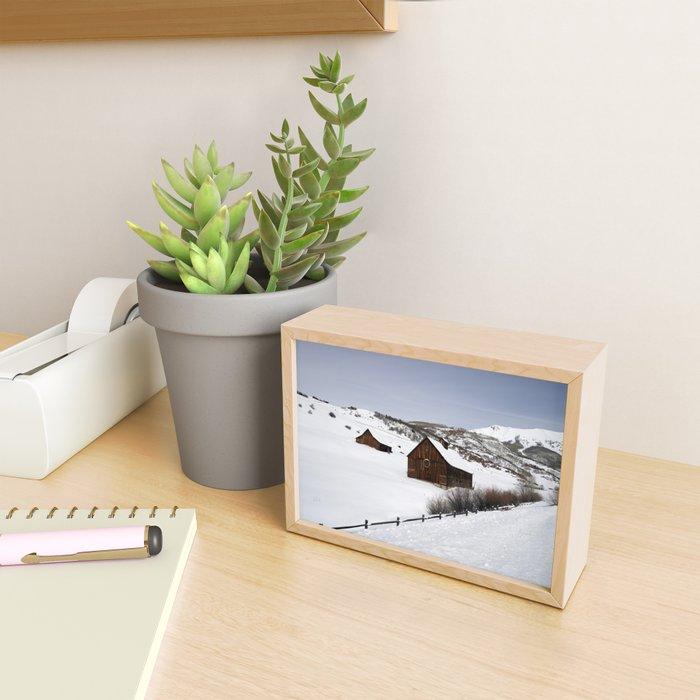 Snow Covered Cabin - Carol Highsmith Framed Mini Art Print