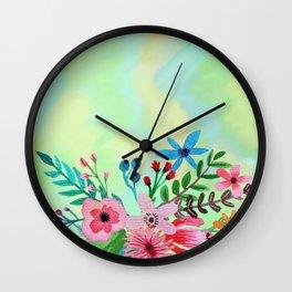 Flowers bouquet watercolor #6 Wall Clock