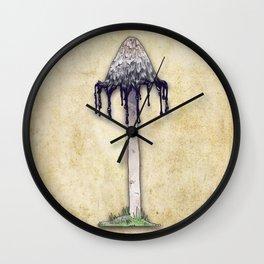 Shaggy Ink Cap Wall Clock