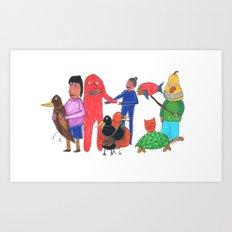 Furgly Art Print
