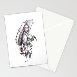 Under my umbrella Stationery Cards
