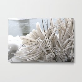 Winter Wonderland - Ice sculpture - Shades of white ice Metal Print