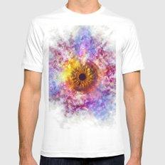 Cosmic Eye Galaxy MEDIUM White Mens Fitted Tee