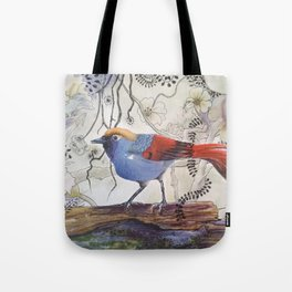 Just Be: Red-Tailed Laughing Thrush Tote Bag