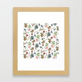 Antique Floral Pattern Framed Art Print