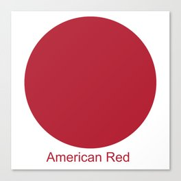 American Red Canvas Print