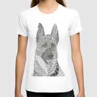 german shepherd T-shirts featuring German Shepherd by DiAnne Ferrer