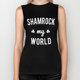 Shamrock My World Biker Tank
