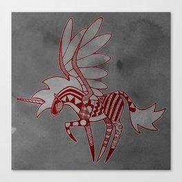 Patchwork Alicorn Canvas Print