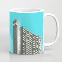 Trellick Tower London Brutalist Architecture - Cyan Coffee Mug