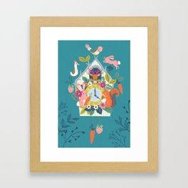Cuckoo (Teal) Framed Art Print