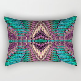 Abstract shapes space Rectangular Pillow