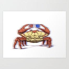3D Crab Art Print