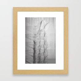 Bunny Girl Glitch Framed Art Print