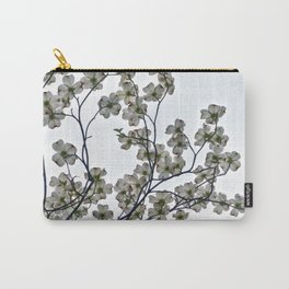 White Dogwood against a Gray Sky Carry-All Pouch