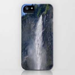 Lauterbrunnen Waterfalls. Alps. Switzerland iPhone Case