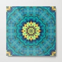 Hidden Lotus Mandala Metal Print