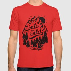 Into The Wild Mens Fitted Tee MEDIUM Red